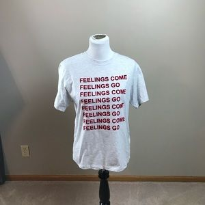 TopShop Feelings Come Feelings Go Short Sleeve Tee